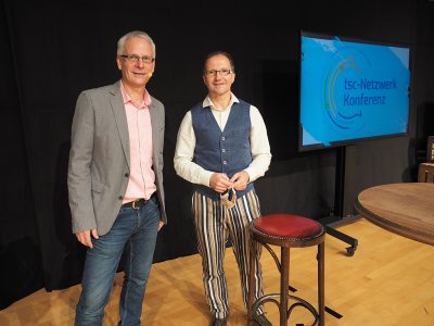 Die tsc-Dozenten Claudius Buser und Andreas Loos (von links) wirkten aktiv mit am Programm der tsc-Netzwerk-Konferenz.