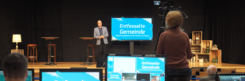 Die tsc-Netzwerk-Konferenz 2020 fand im Online-Format statt. Vom Konferenzsaal auf dem Chrischona Campus wurde sie live übertragen.